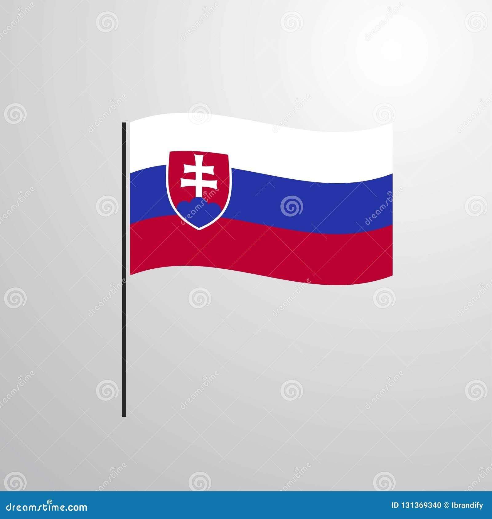 Drapeau de ondulation de la Slovaquie