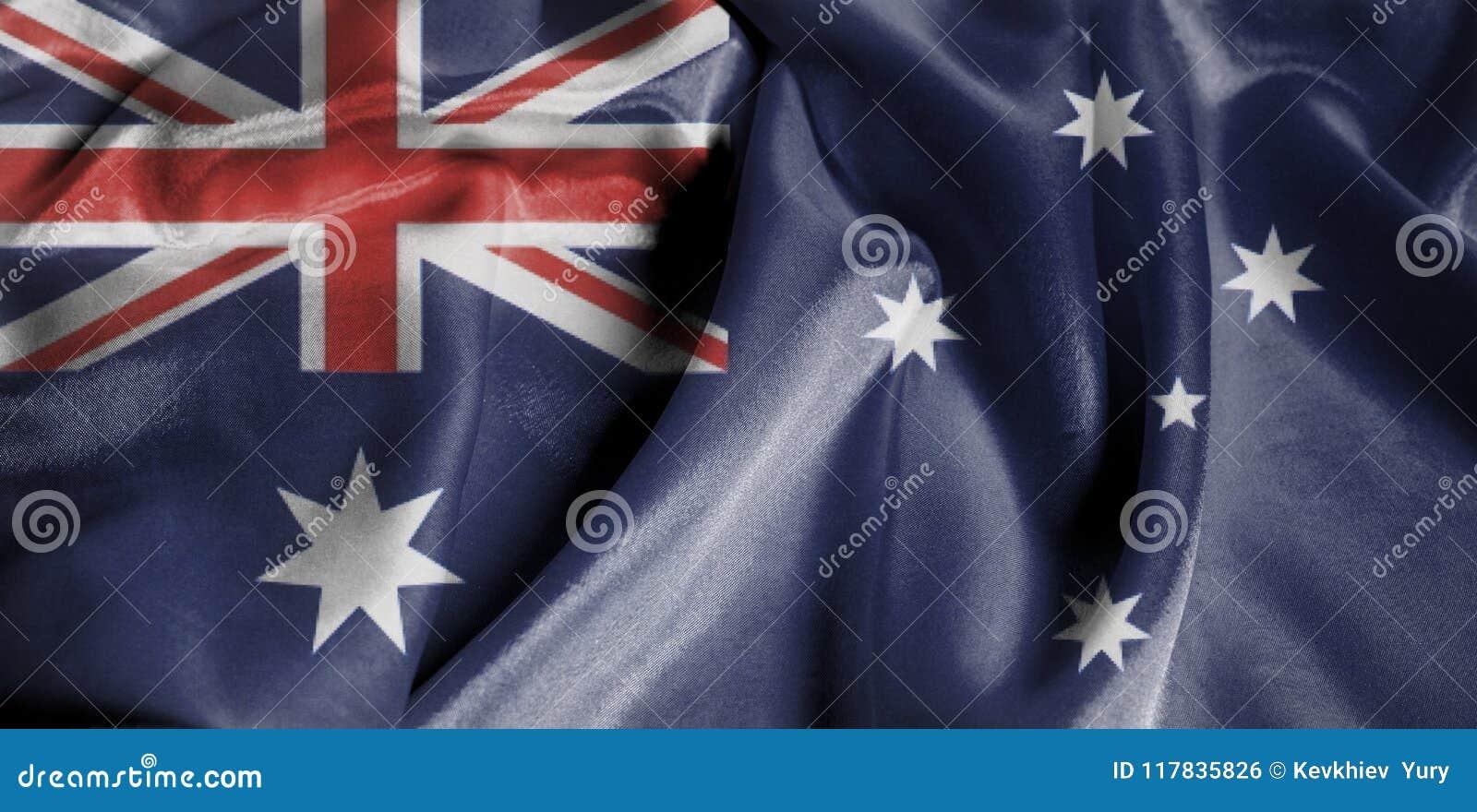 Drapeau de ondulation ondulé d Australie