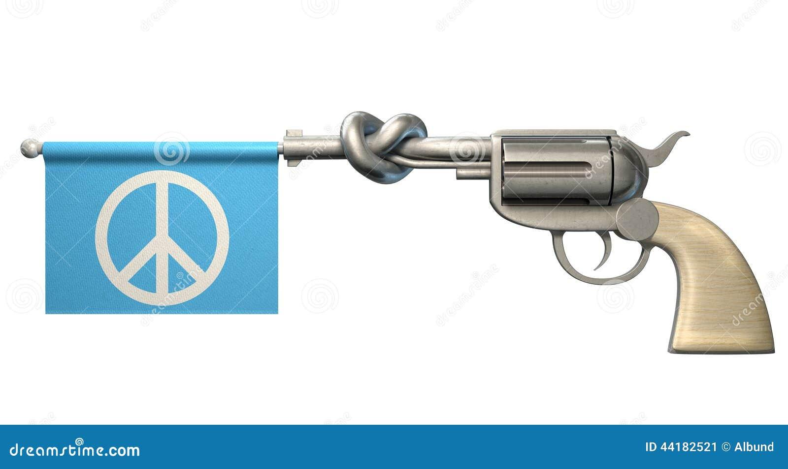 Drapeau de paix de pistolet
