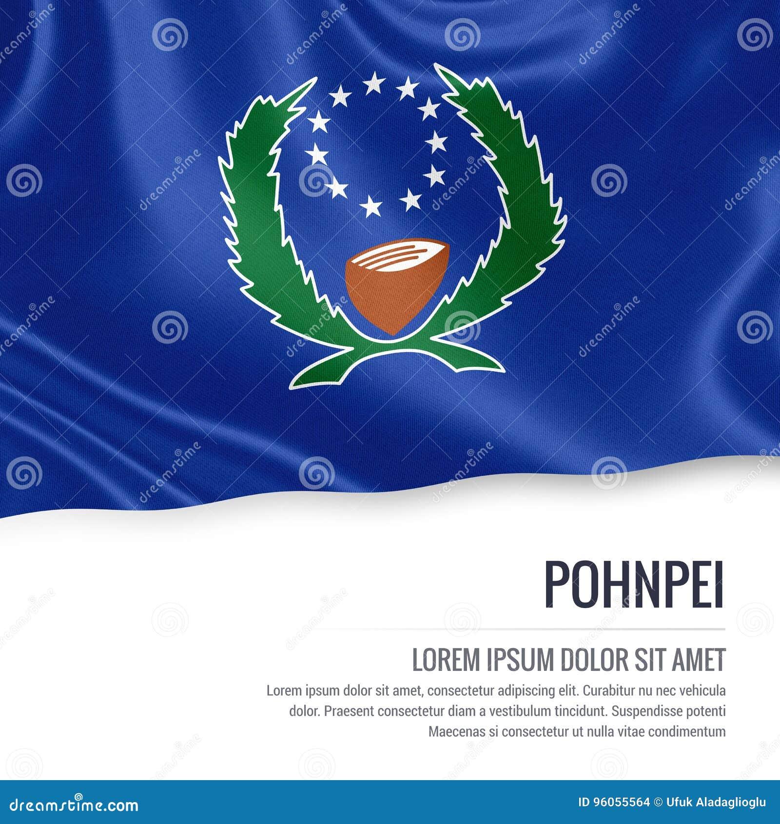 Drapeau de Pohnpei Drapeau d état Pohnp des Etats fédérés de Micronésie