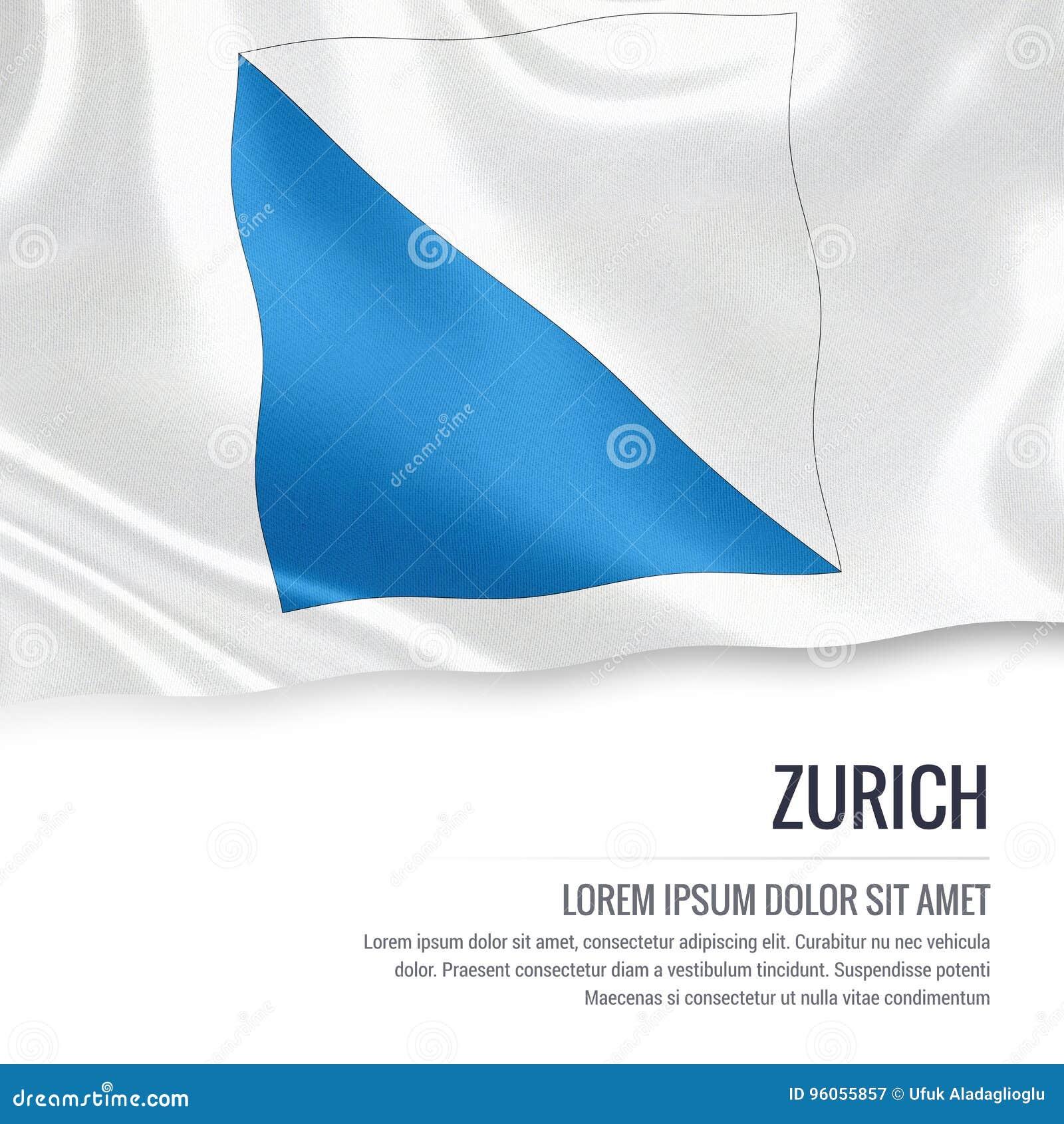 Drapeau de riches de ¼ de l état ZÃ de la Suisse