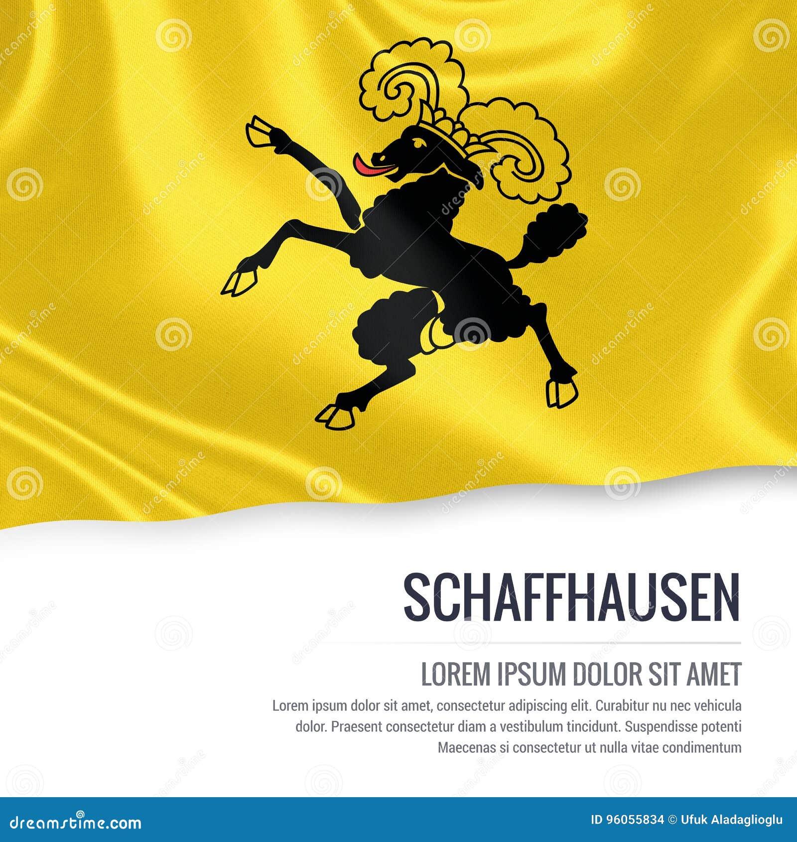 Drapeau de Schaffhausen d état de la Suisse