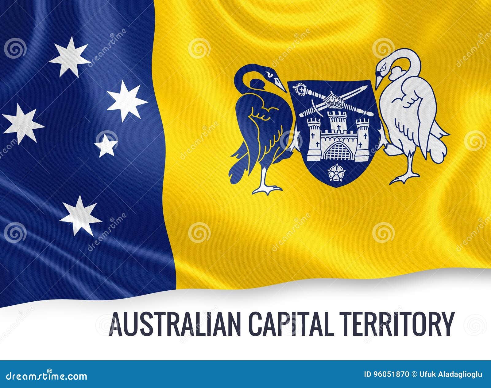Drapeau de territoire de capitale australienne d état australien