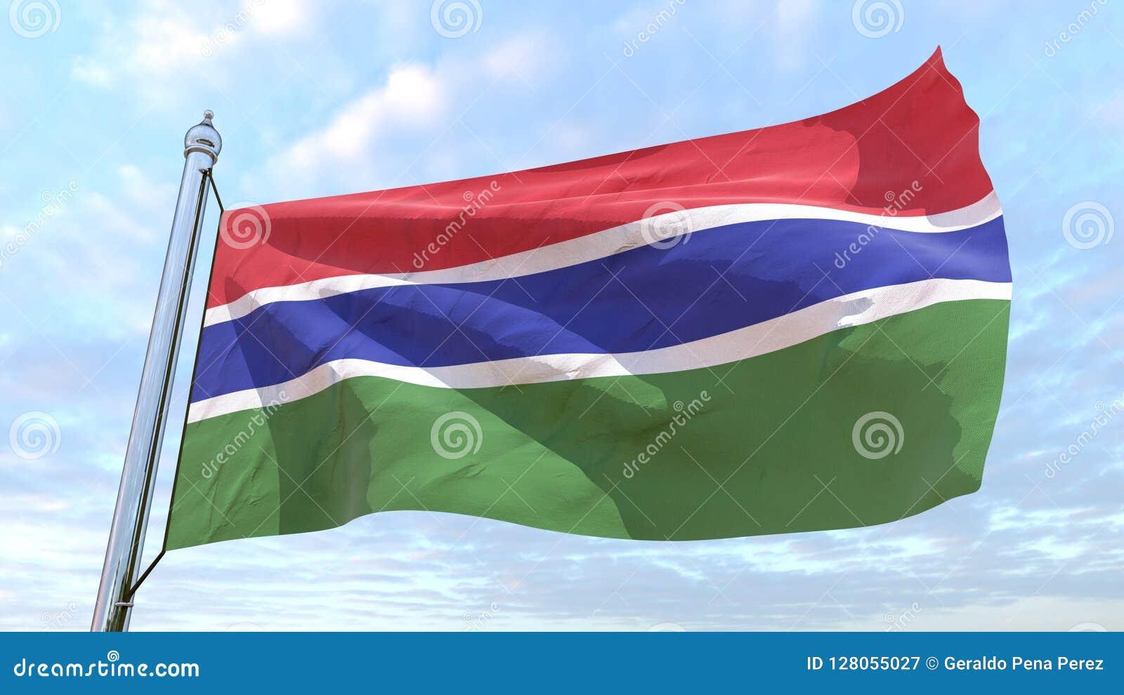 Drapeau de tissage du pays Gambie
