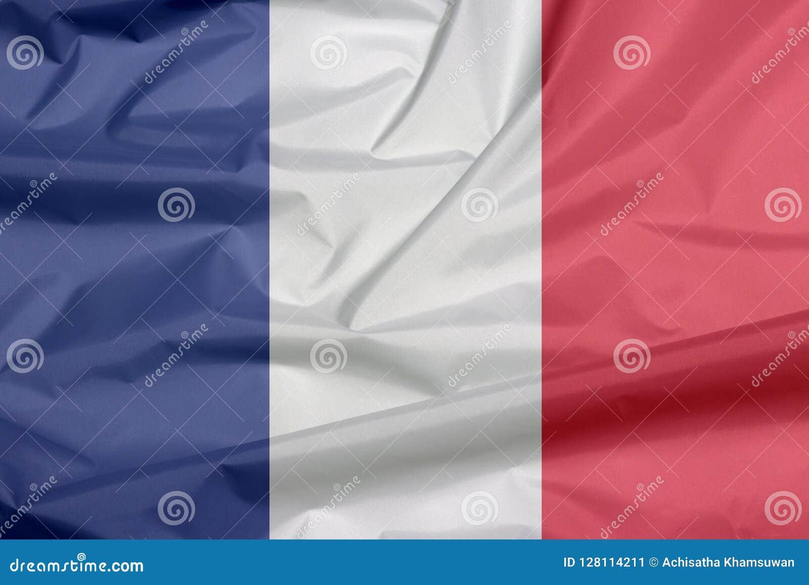 Drapeau de tissu des Frances Pli de fond français de drapeau