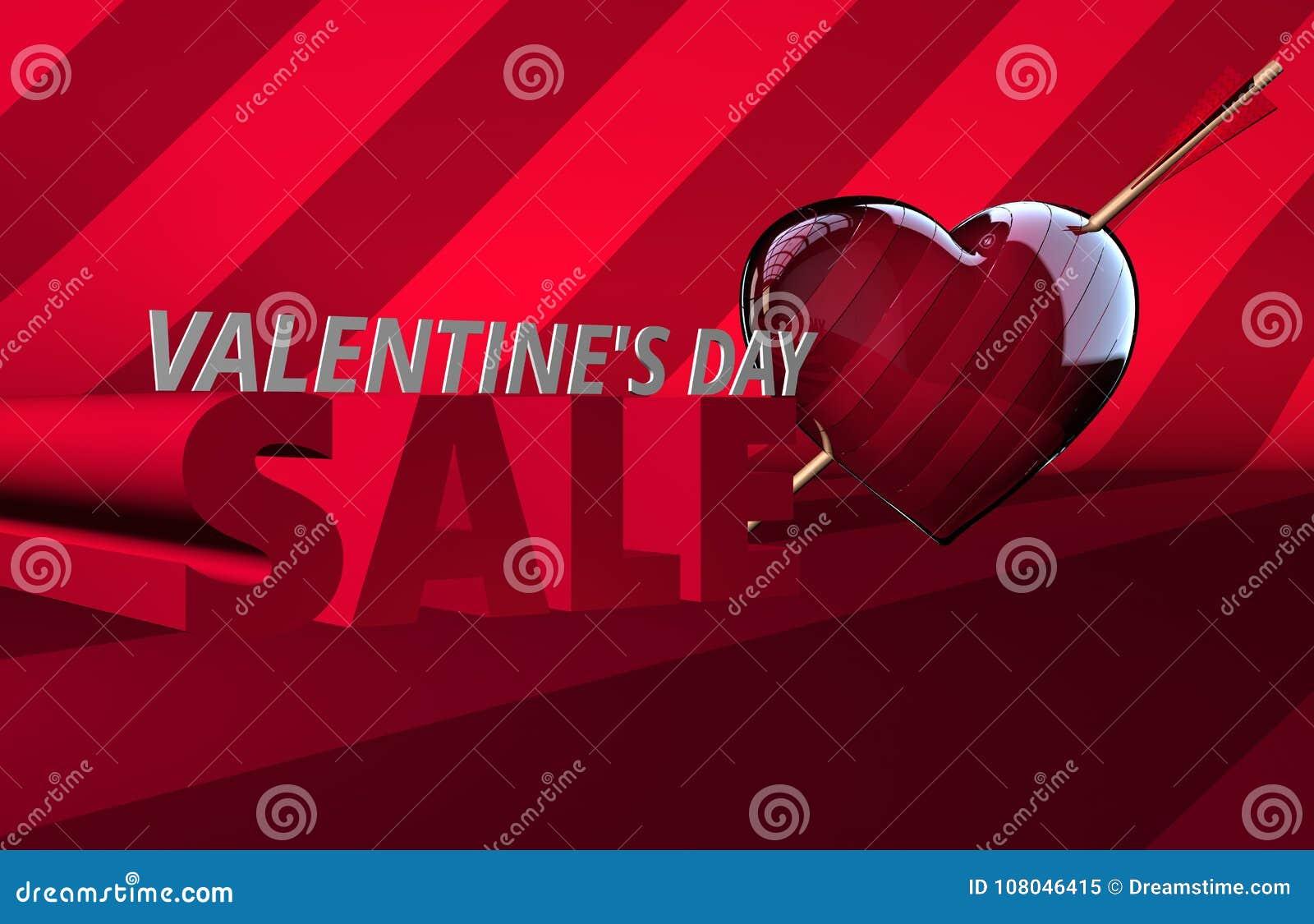 Drapeau de vente de jour du ` s de Valentine