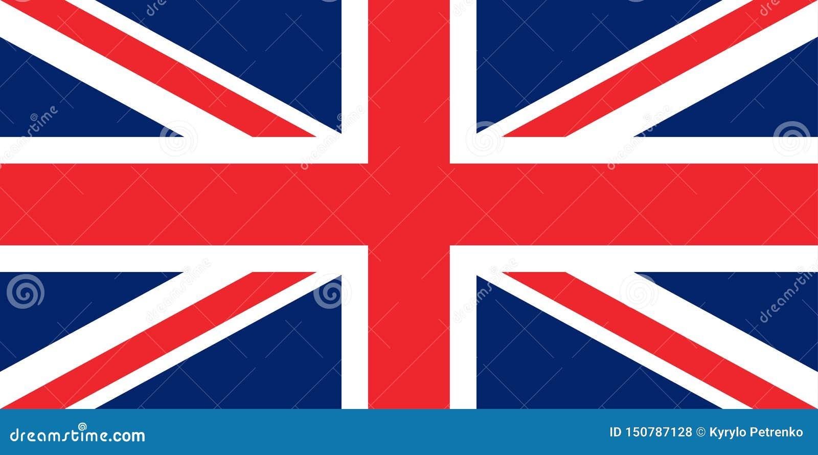 Drapeau des proportions originales de la Grande-Bretagne