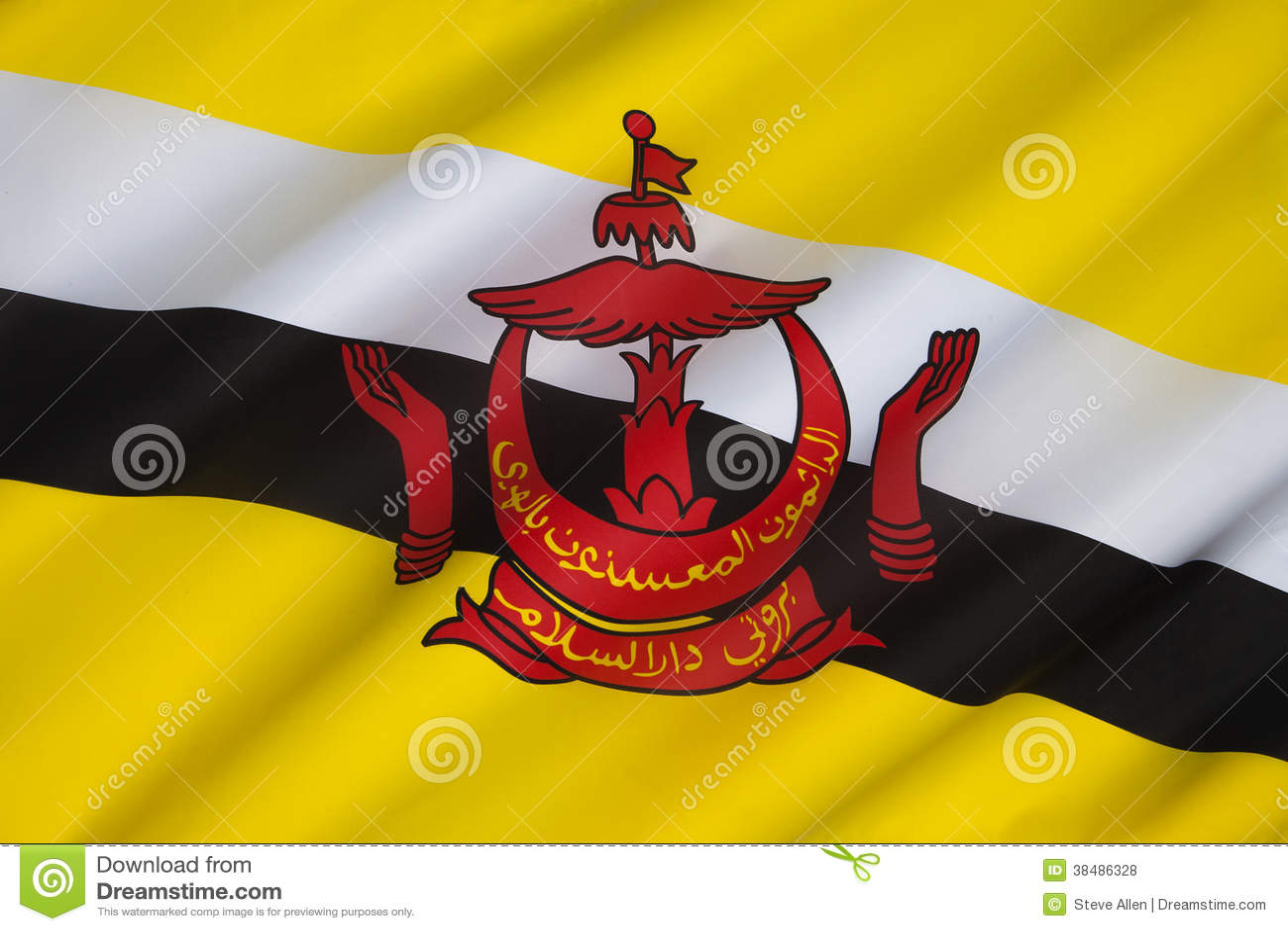 Drapeau du Brunei - le Bornéo