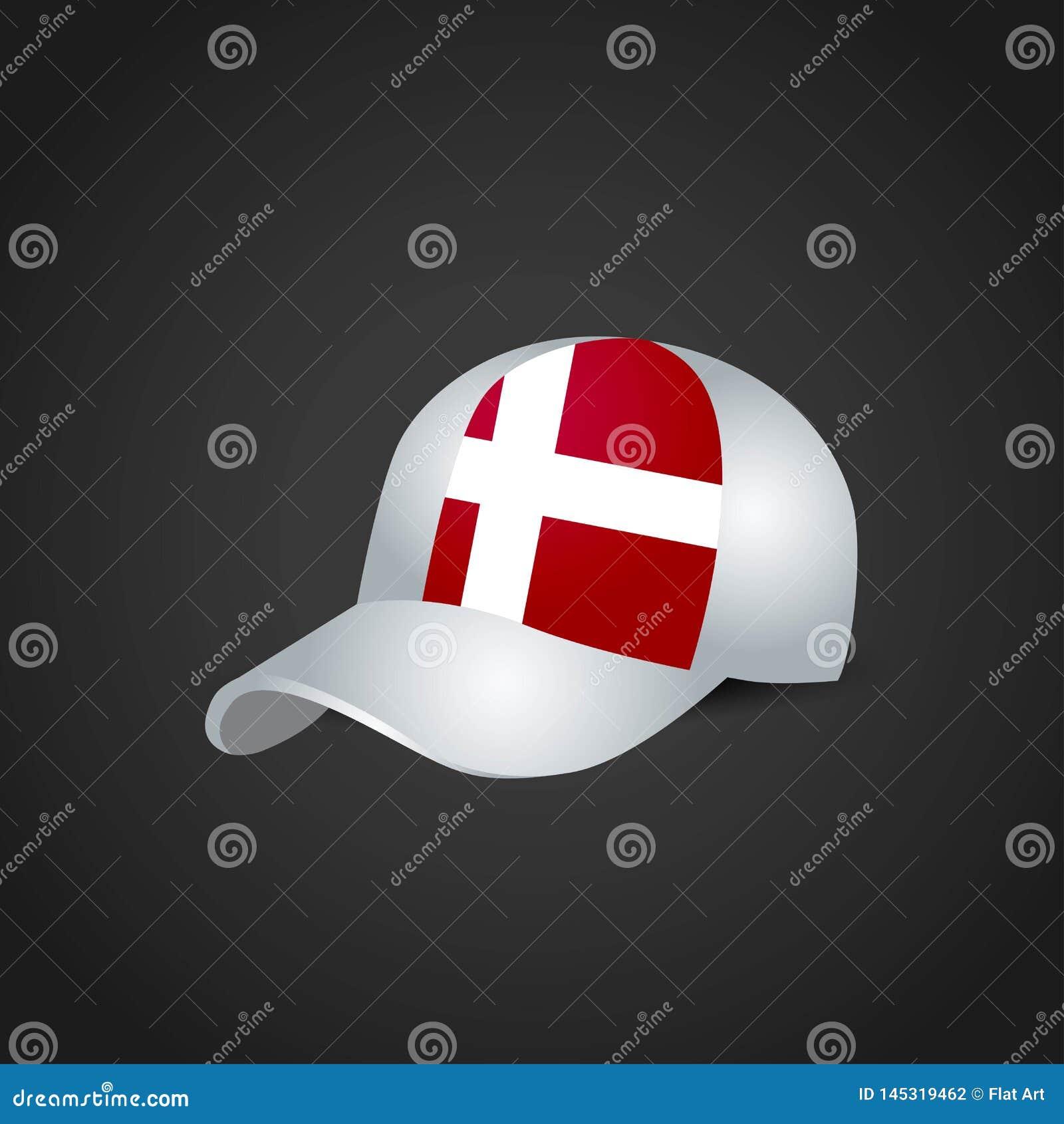 Drapeau du Danemark sur le chapeau