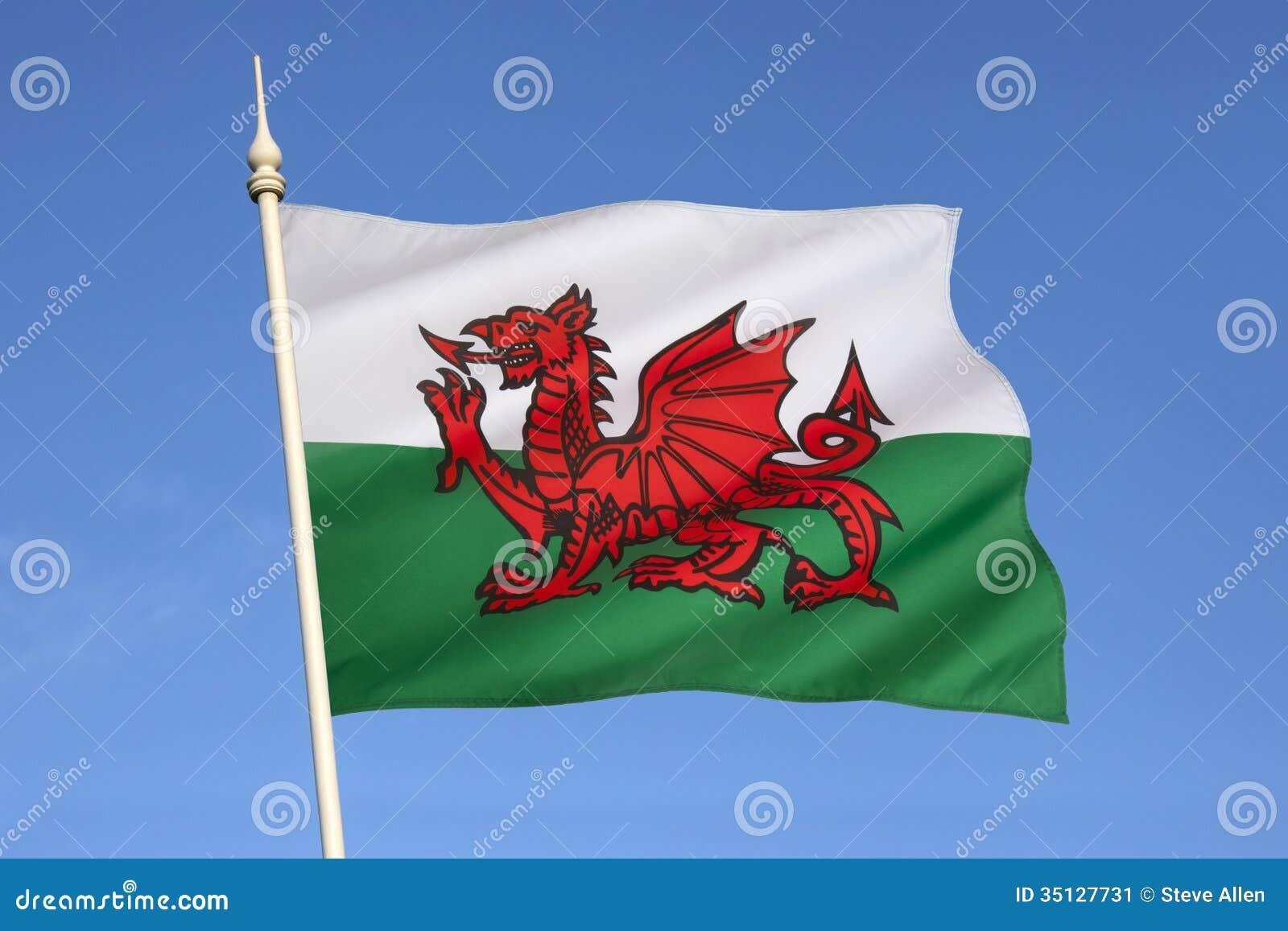 drapeau du pays de galles le royaume uni image stock