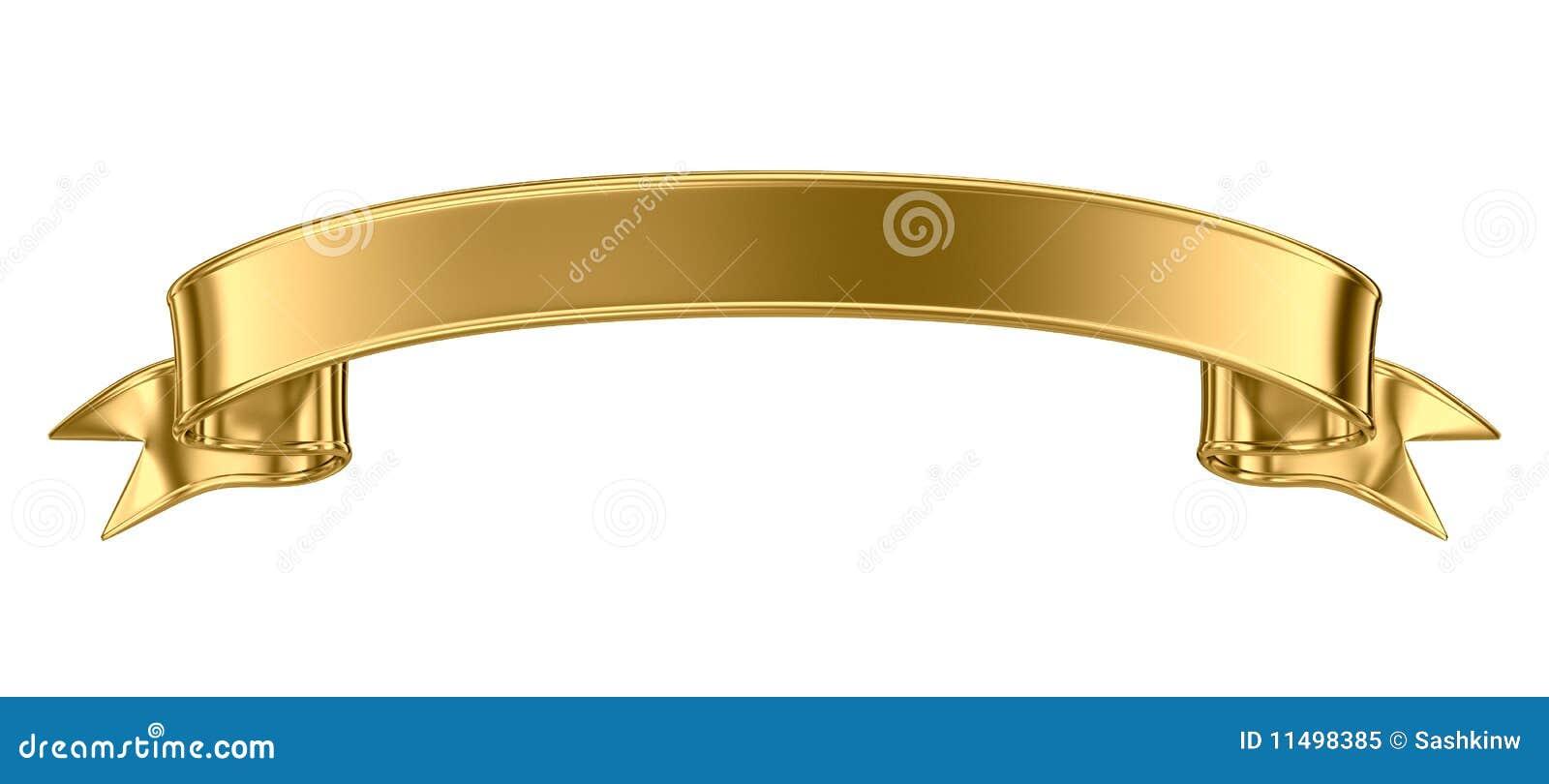 Drapeau en métal d or