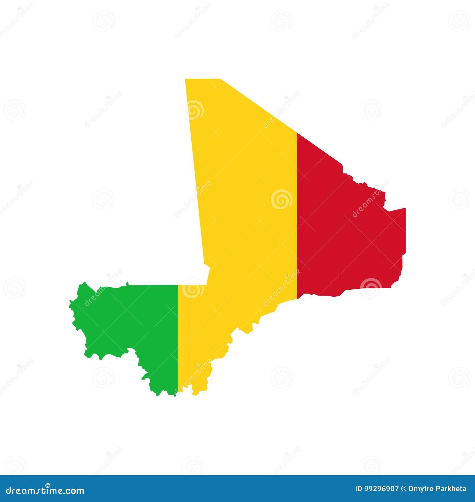 Drapeau et carte du Mali illustration de vecteur. Illustration du cadre - 99296907