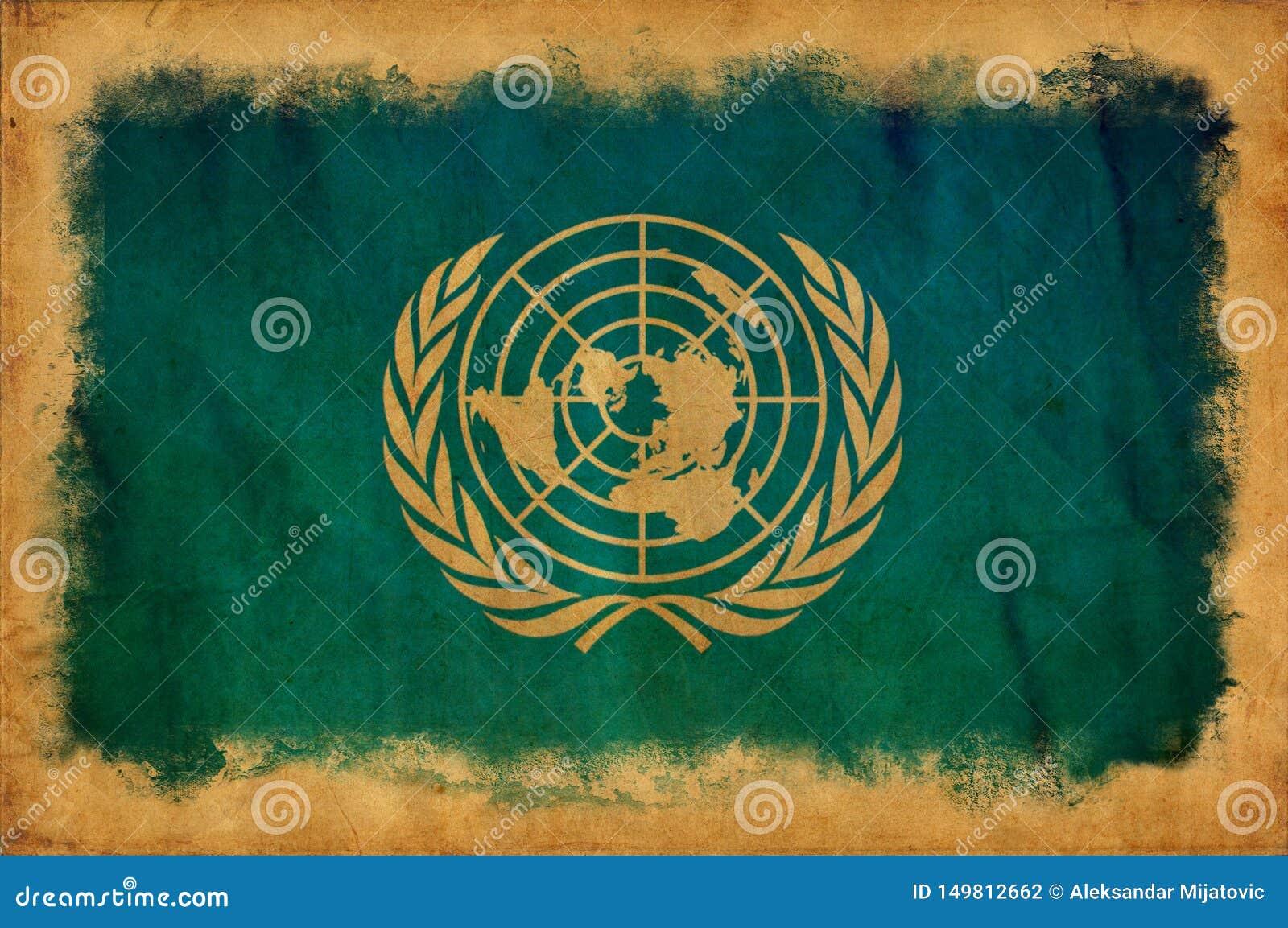 Drapeau grunge des Nations Unies