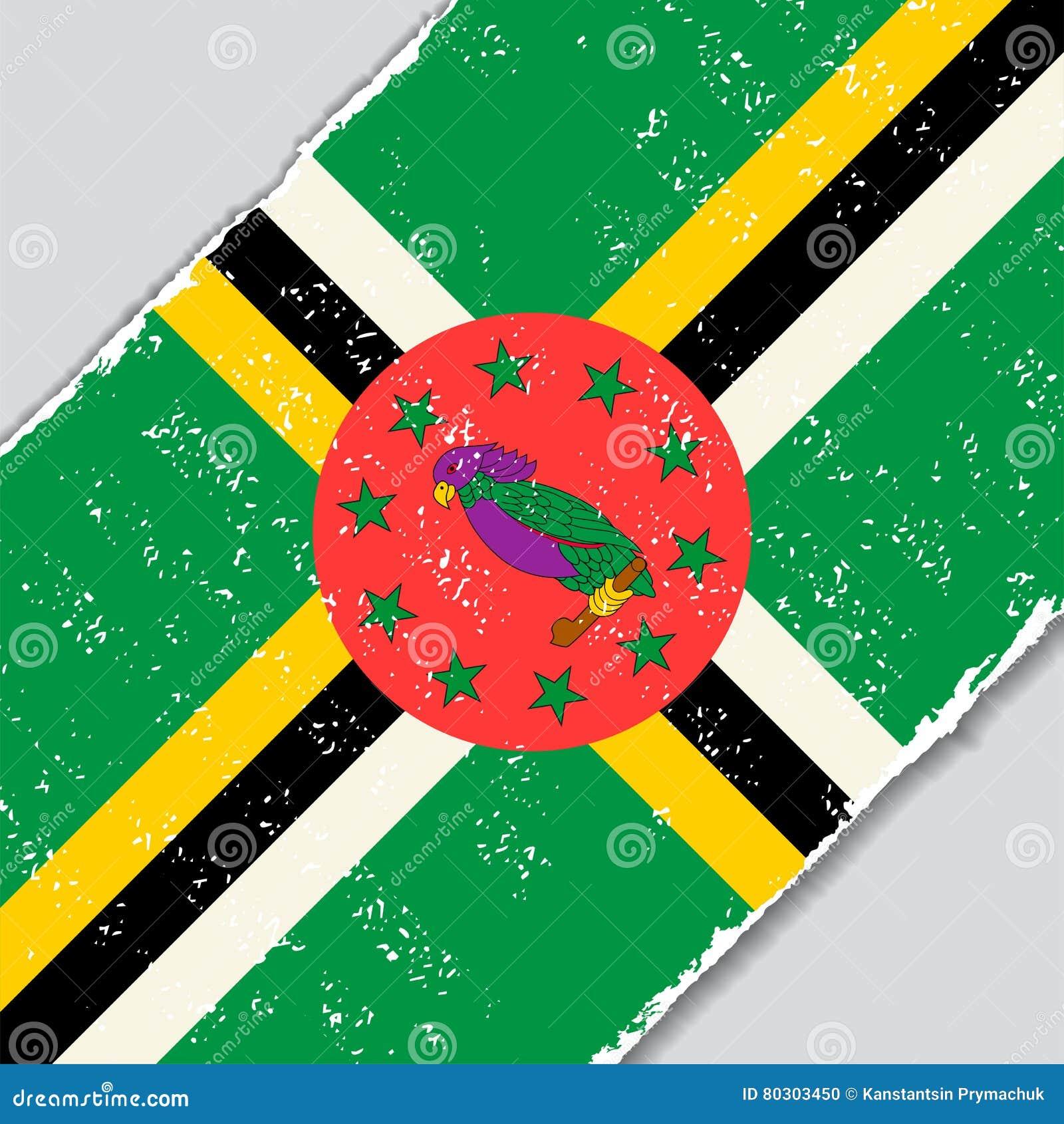 Drapeau grunge dominicain Illustration de vecteur