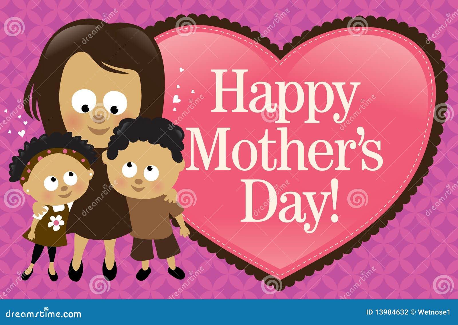 Drapeau heureux du jour de mère - Afro-américain