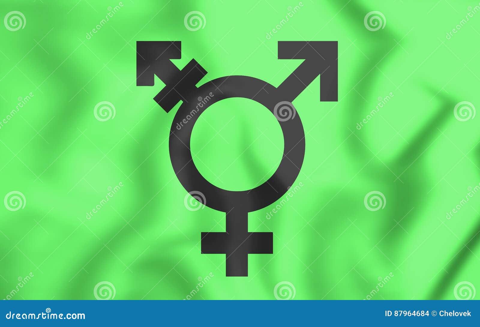 Drapeau israélien de transsexuel