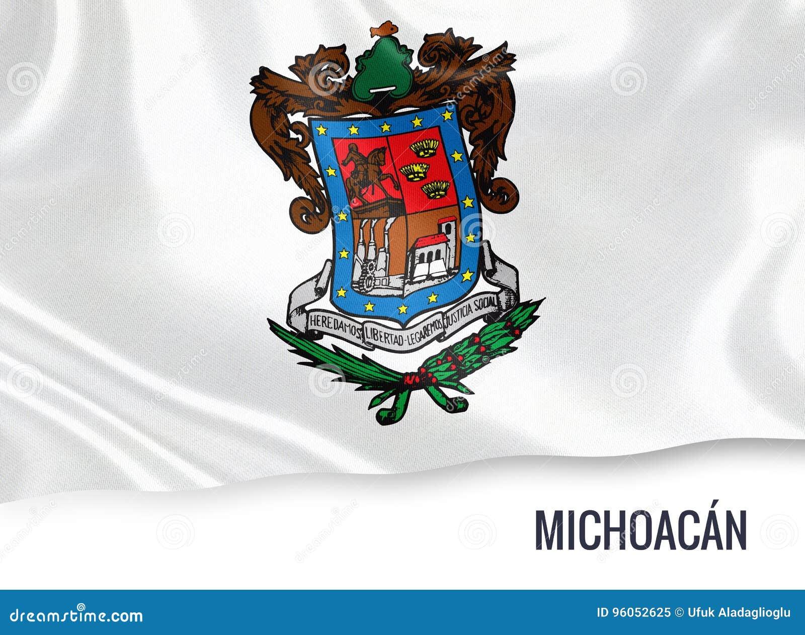 Drapeau mexicain de Michoacan d état