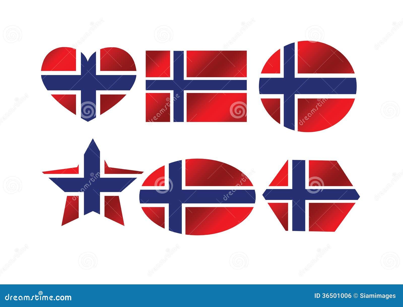 Drapeau national de la Norvège