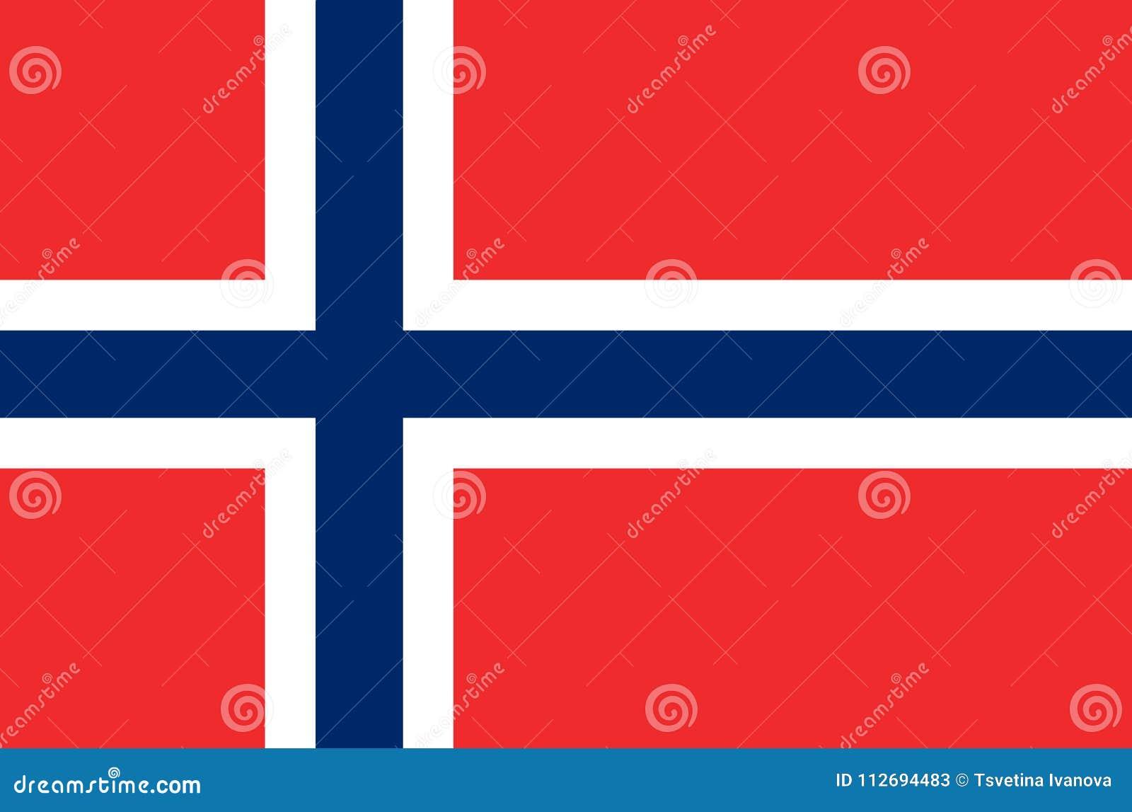Drapeau national norvégien, drapeau officiel de couleurs précises de la Norvège