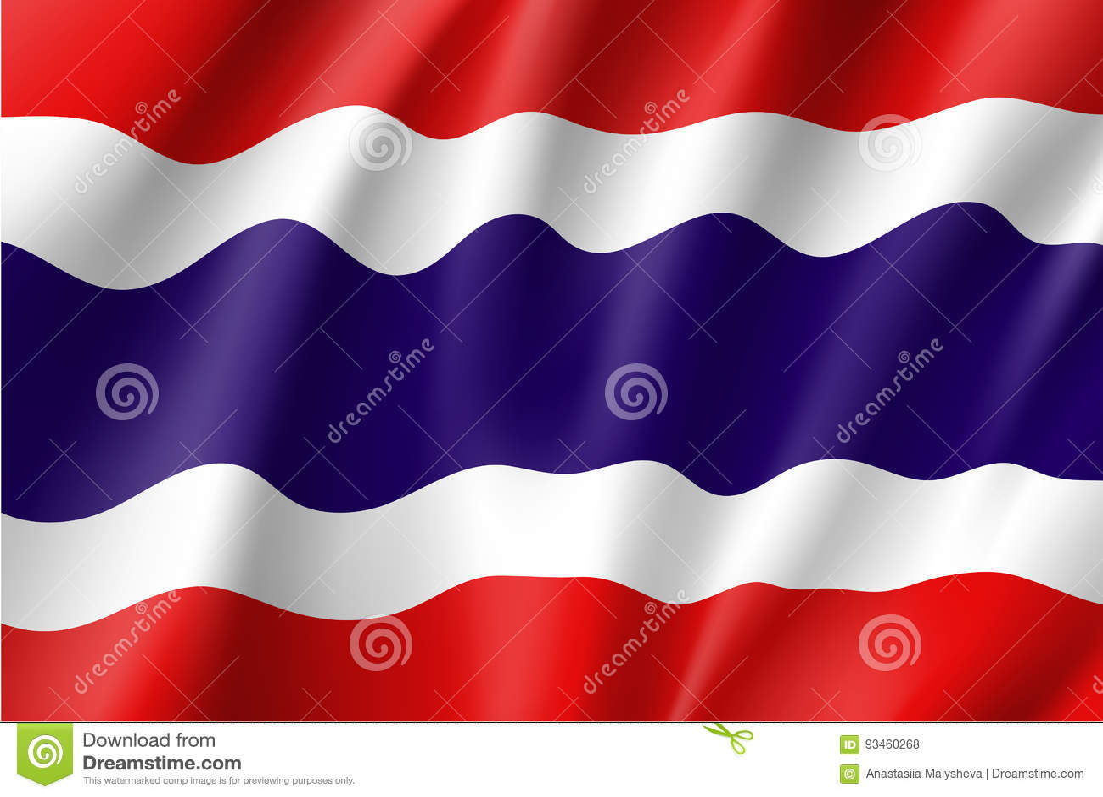 Drapeau national royaume de Thaïlande