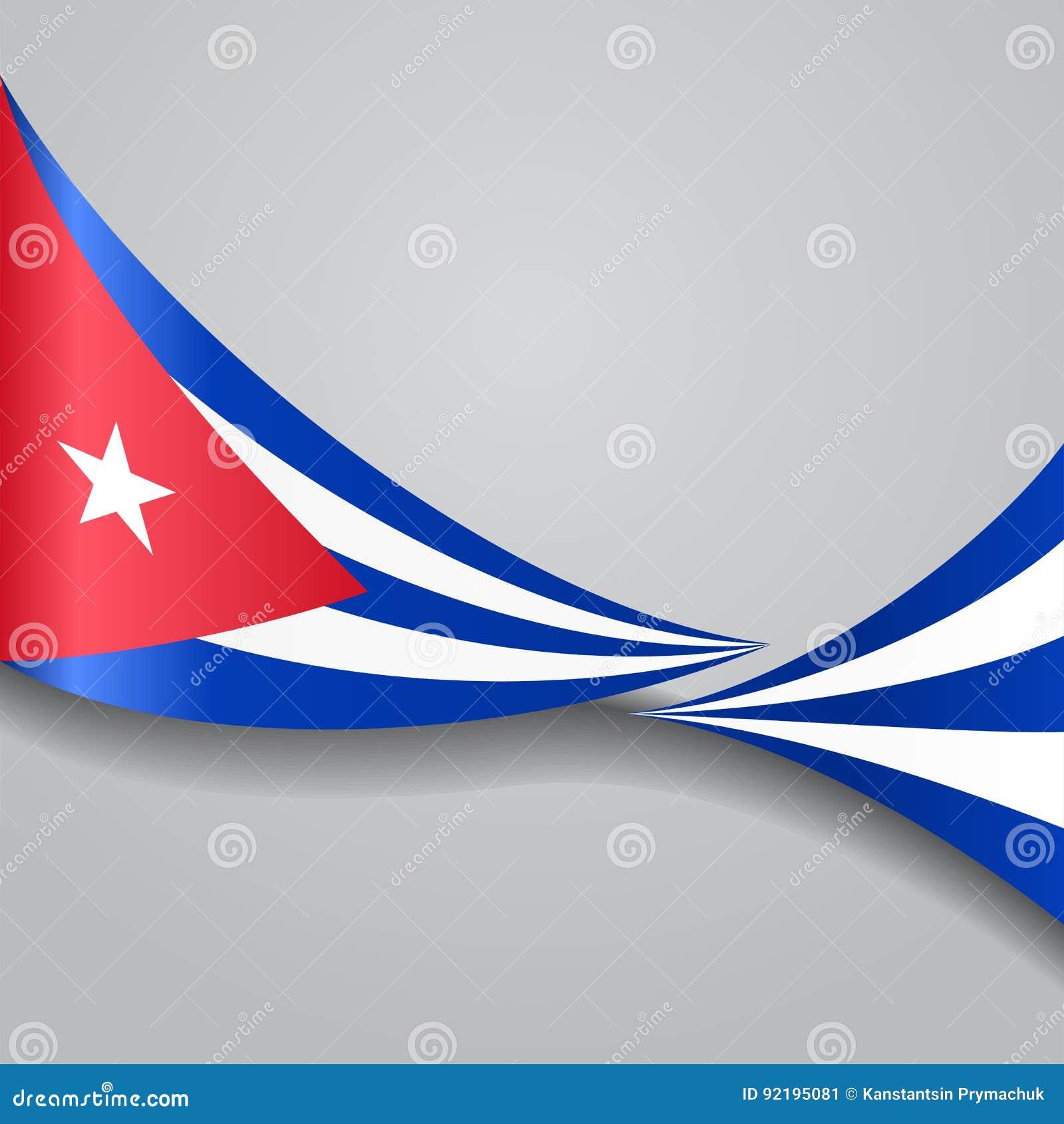 Drapeau onduleux cubain Illustration de vecteur