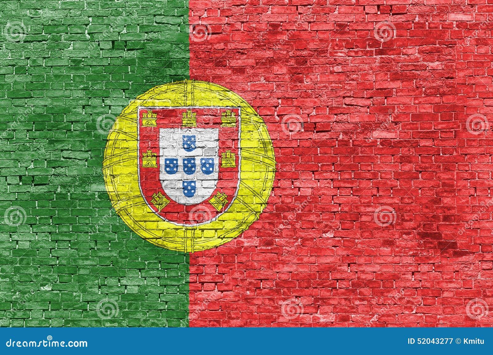 drapeau portugais au dessus de mur de briques illustration stock illustration du m taphore. Black Bedroom Furniture Sets. Home Design Ideas