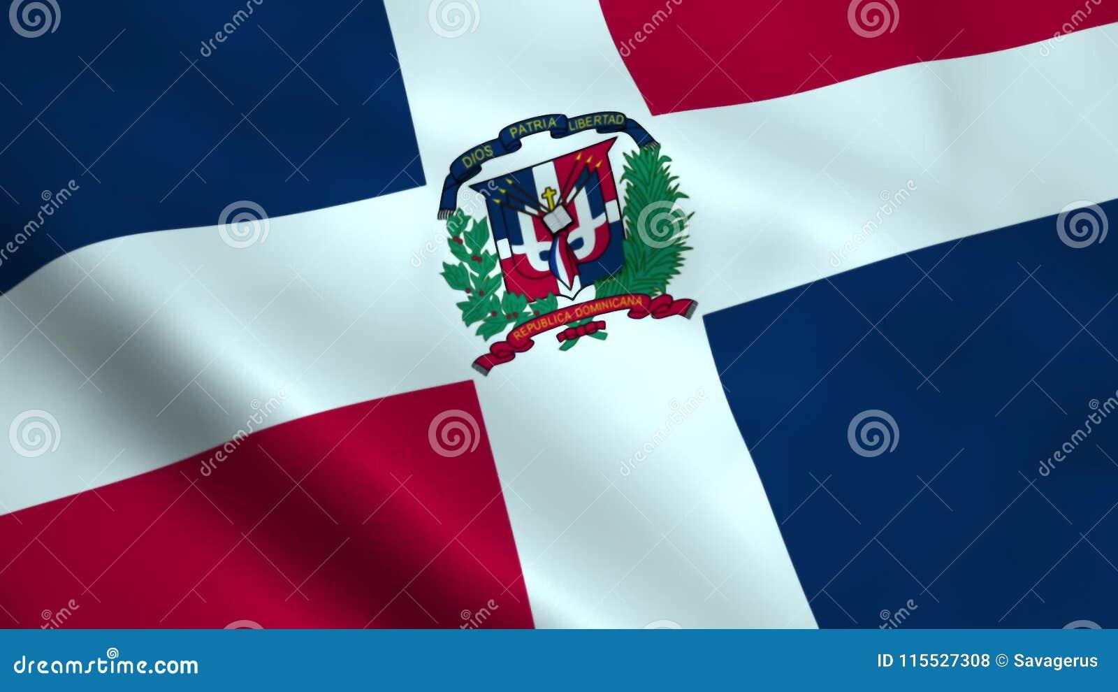 Drapeau réaliste de la République Dominicaine