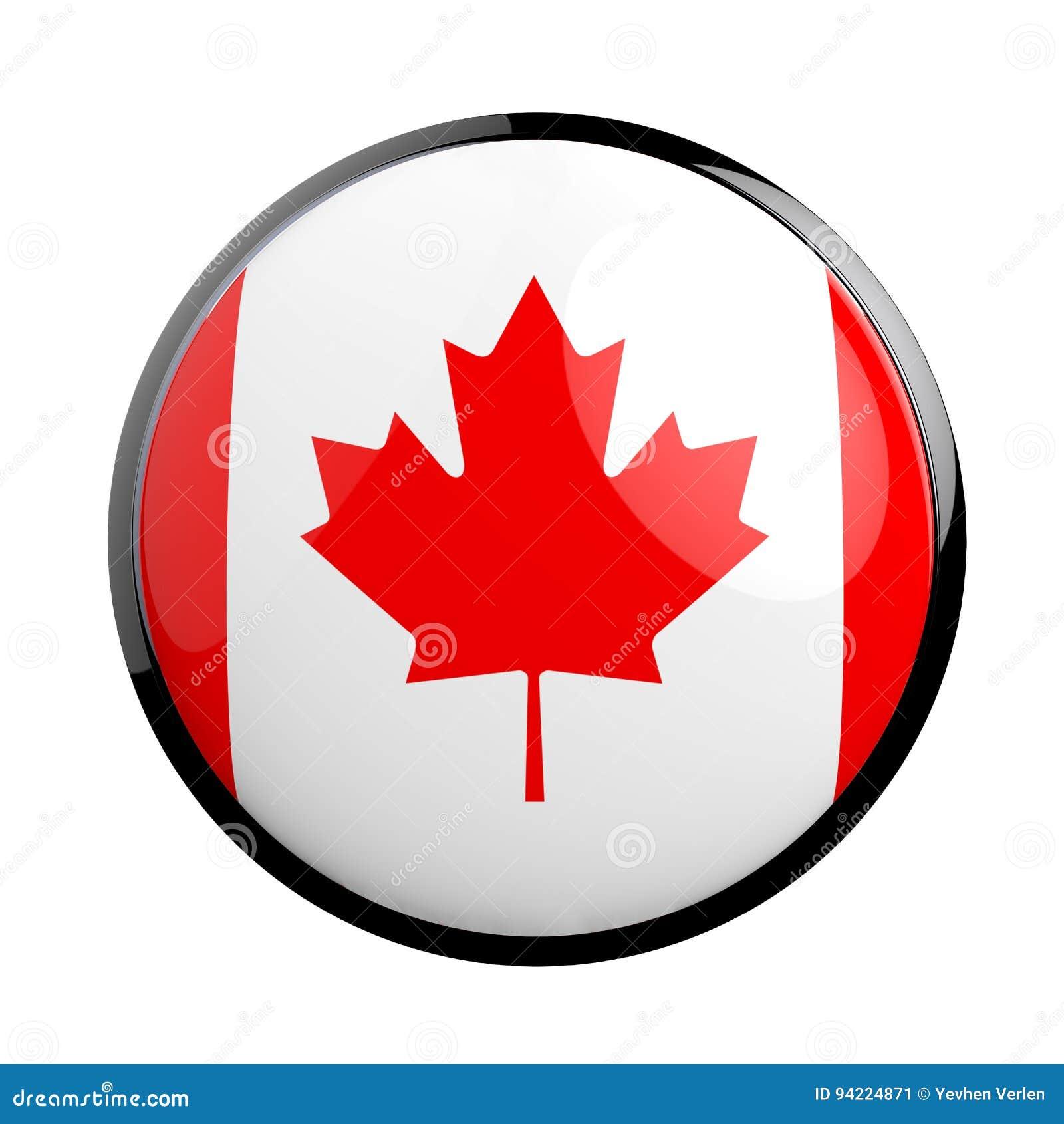 Drapeau Rond drapeau rond d'icône de canada illustration stock - illustration du