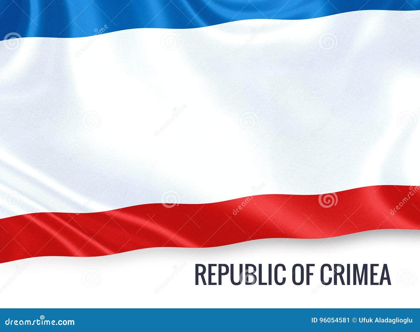 Drapeau russe de Perm Krai d état ondulant sur un backgro blanc d isolement