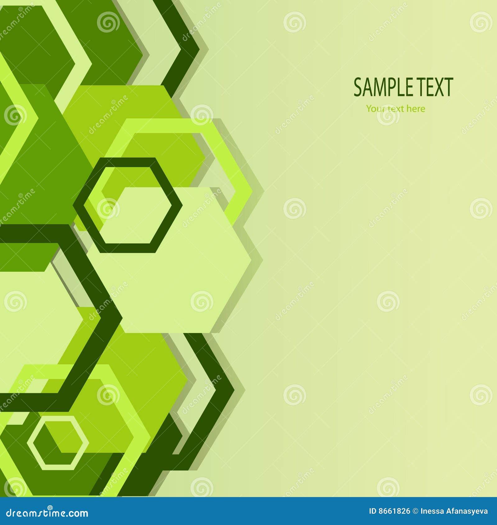 Drapeau vert élégant