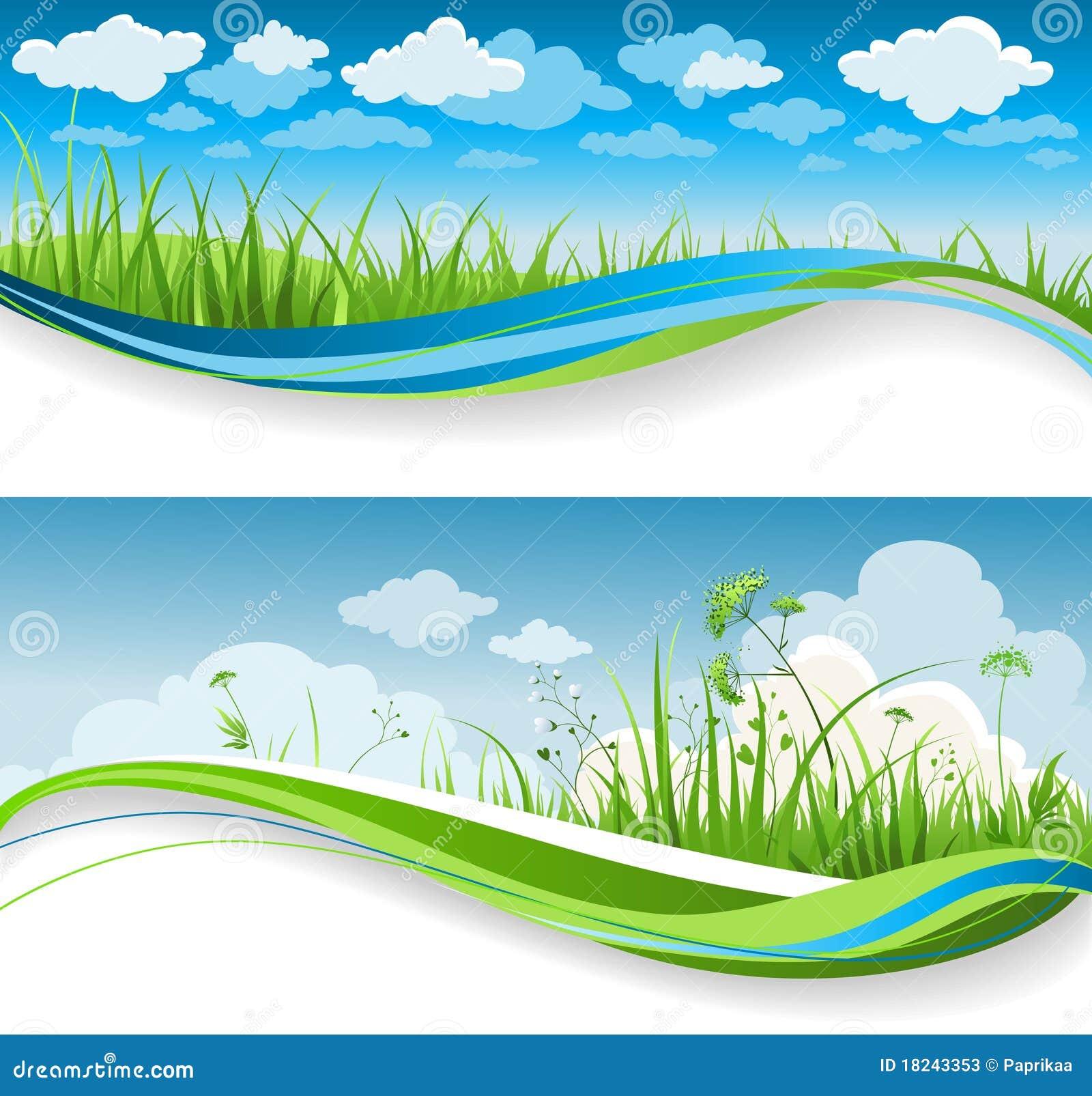 Drapeaux d herbe d été