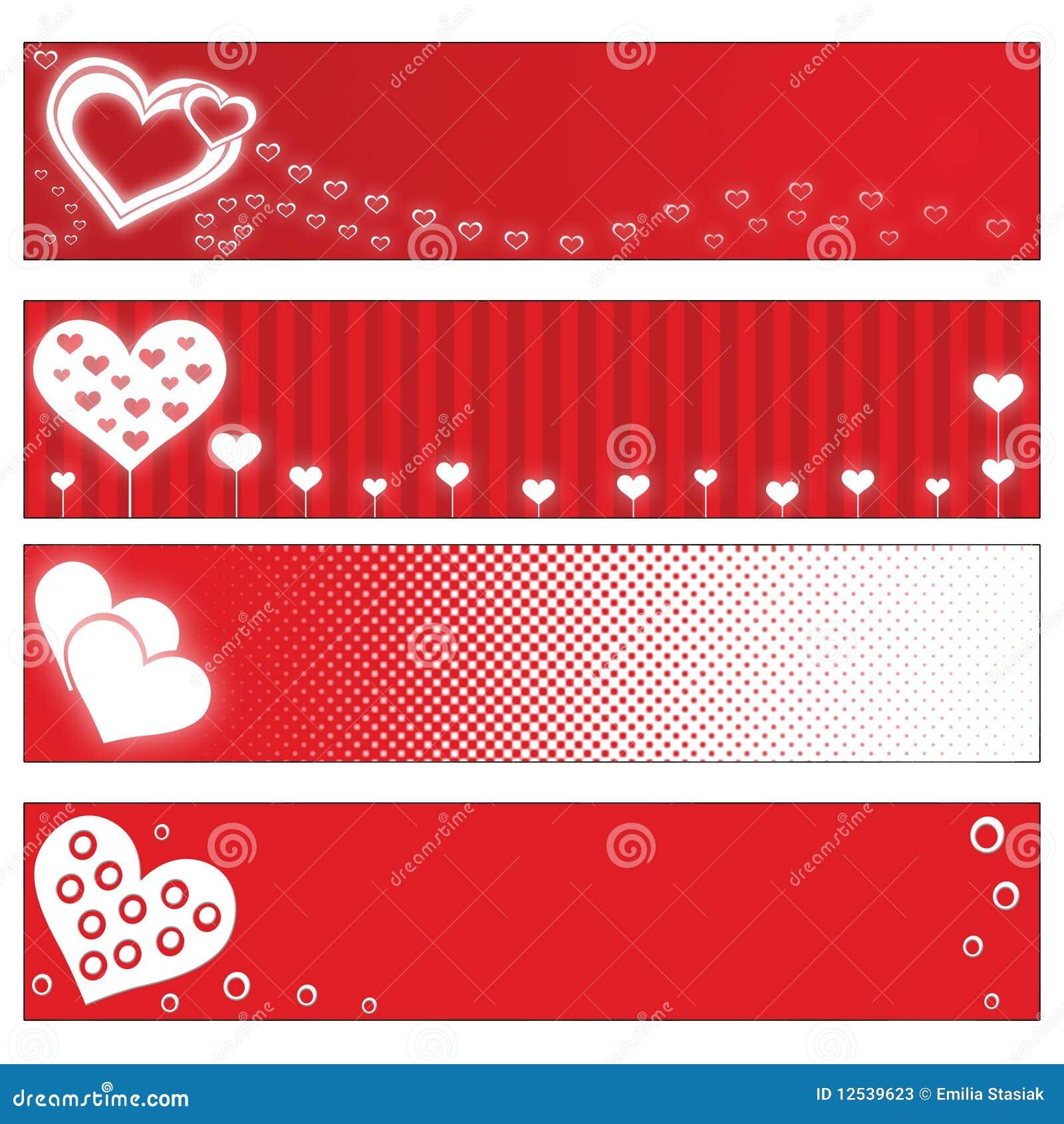 Drapeaux de jour de Valentines