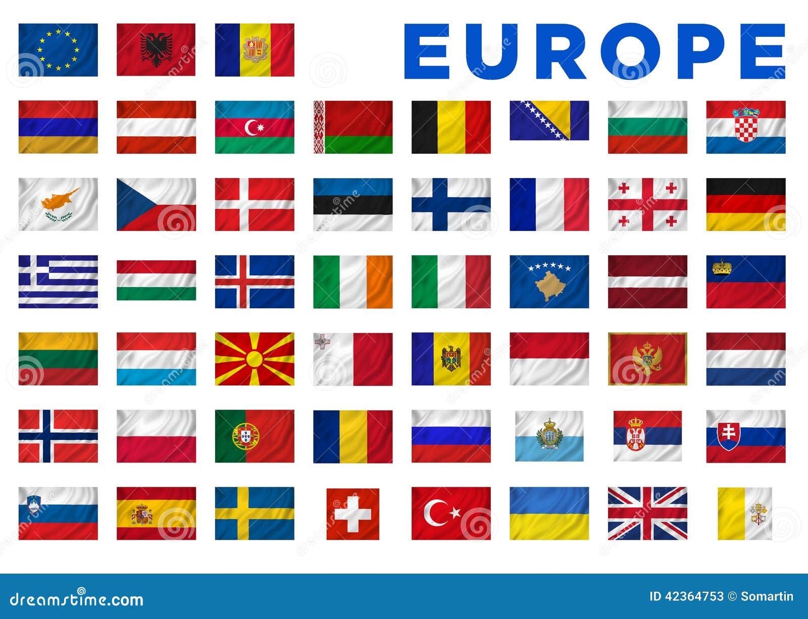 Bien-aimé Drapeaux de l'Europe illustration stock. Image du finland - 42364753 FK86