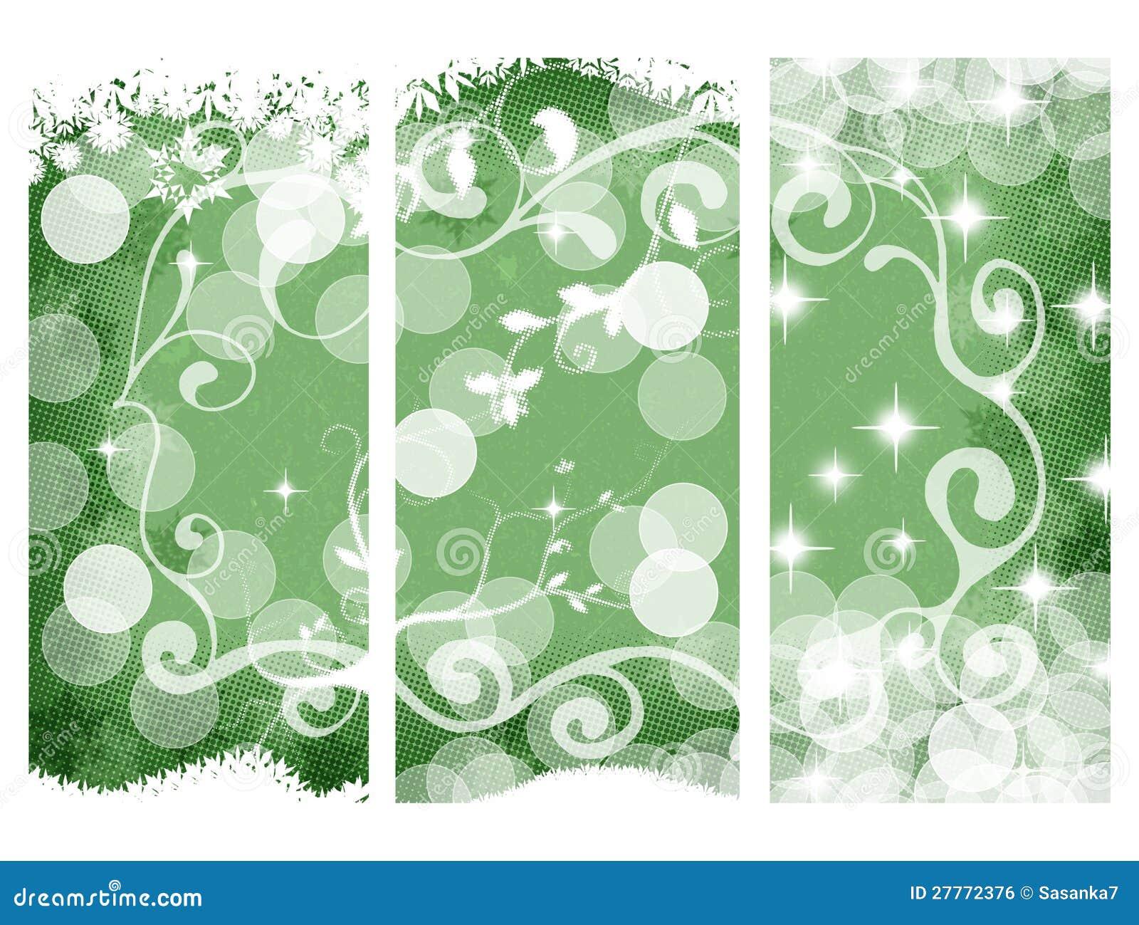 Drapeaux de Noël, verts