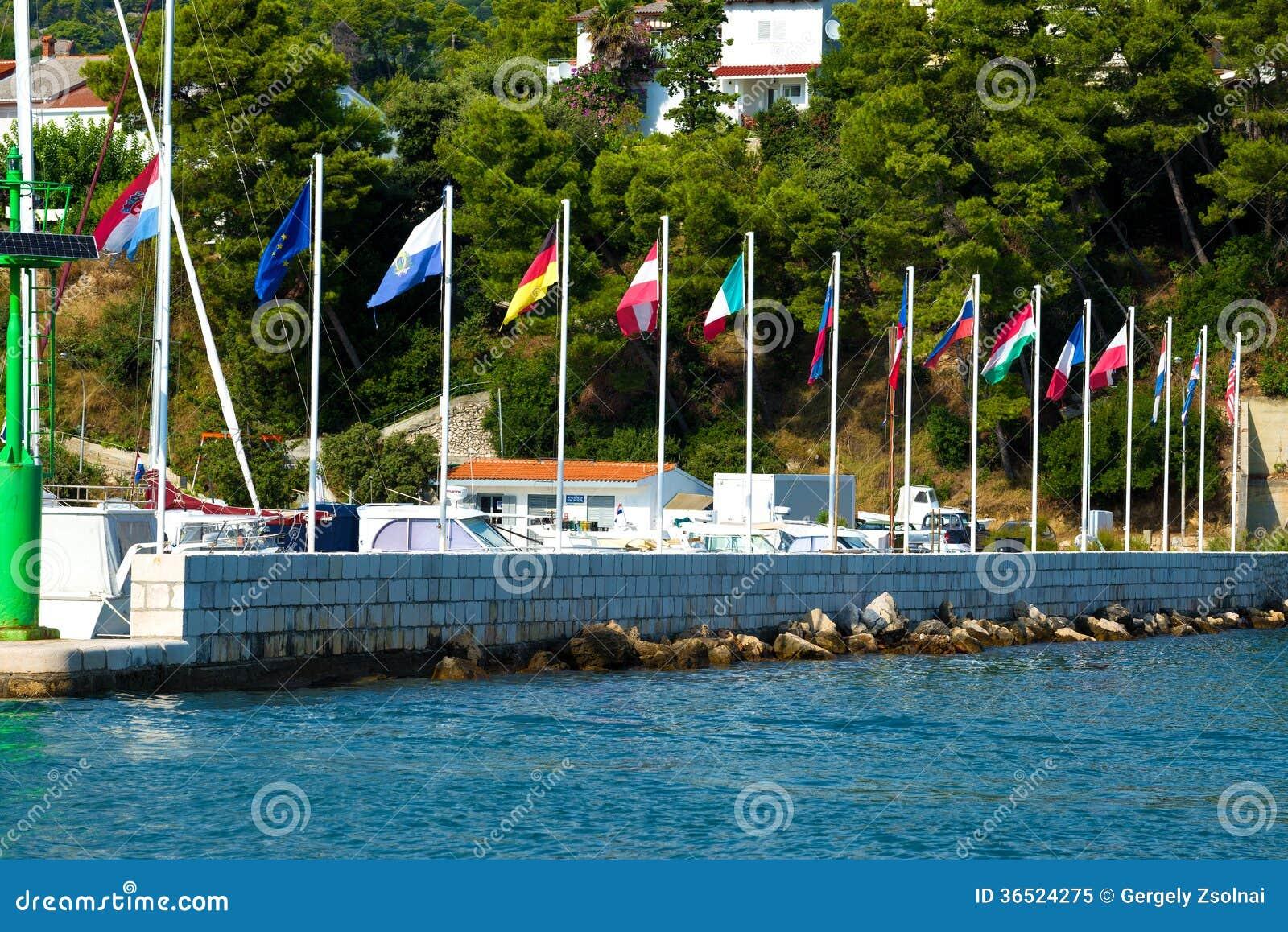 Drapeaux de pays en Croatie