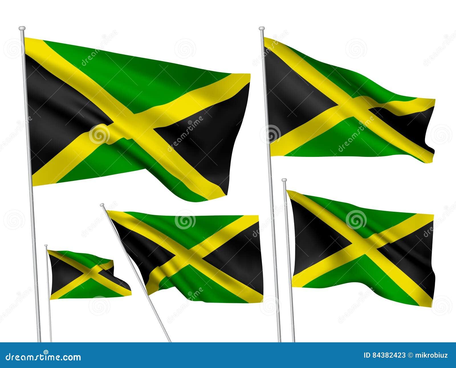 Drapeaux de vecteur de la Jamaïque