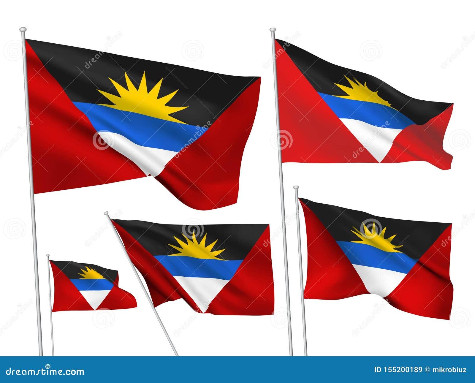 Drapeaux de vecteur de l Antigua-et-Barbuda
