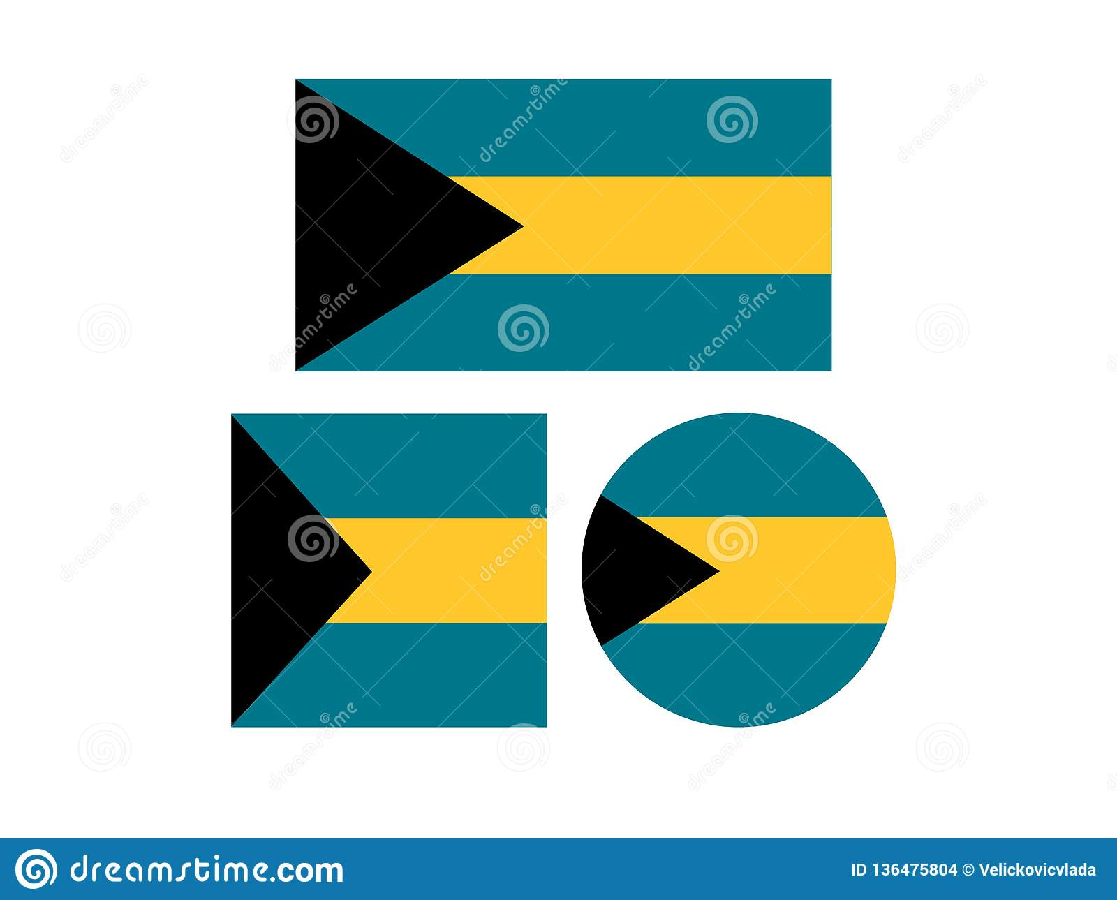 Drapeaux des Bahamas - Commonwealth of the Bahamas