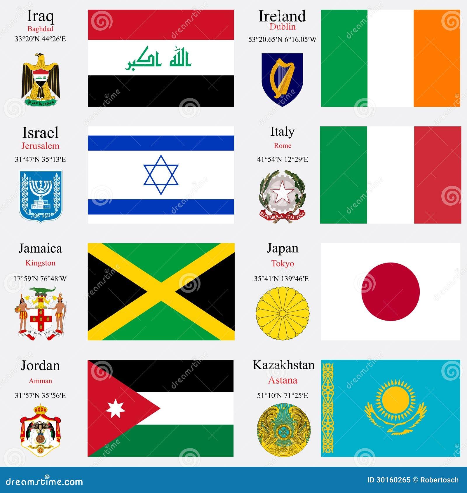 Les drapeaux et les capitaux du monde ont placé 11