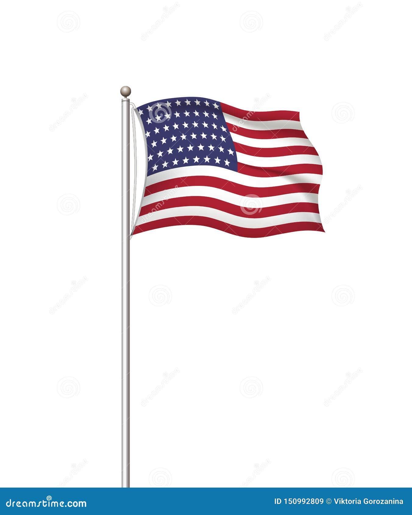 Drapeaux du monde Fond transparent de courrier de drapeau national de pays Les Etats-Unis Etats-Unis d Amérique Illustration de v