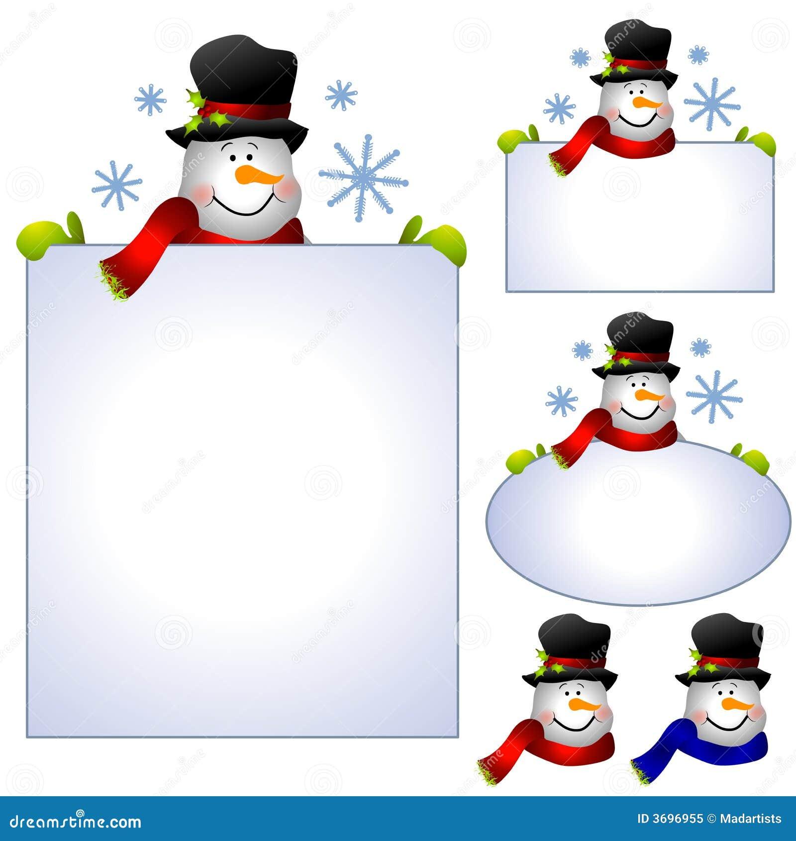 Drapeaux et cadres de clipart images graphiques de bonhomme de neige illustration stock - Clipart bonhomme de neige ...