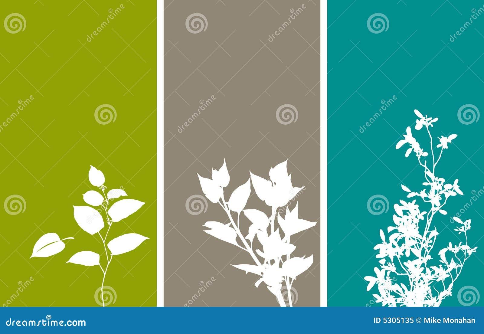 Drapeaux floraux verticaux