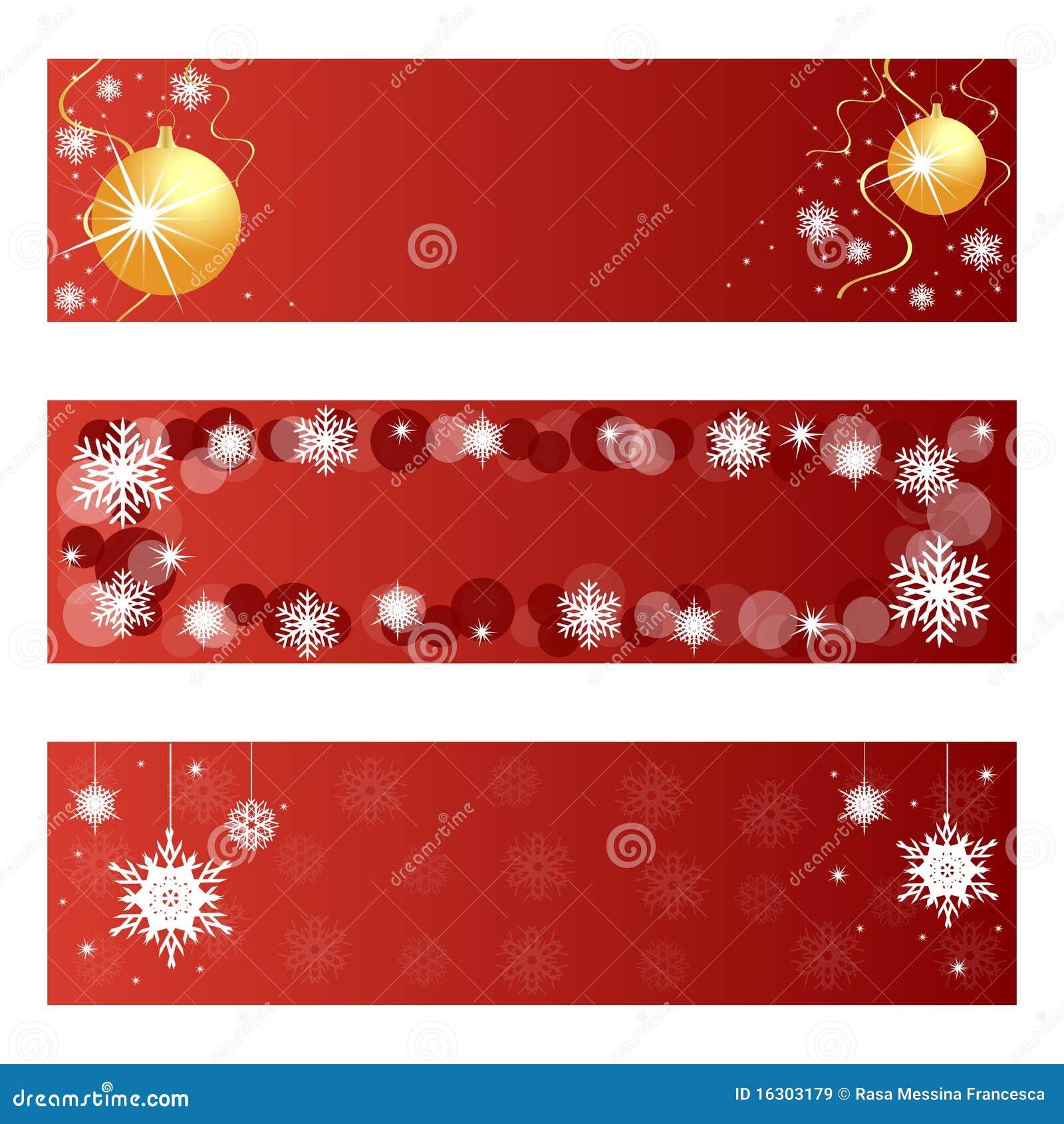 Drapeaux rouges de Noël