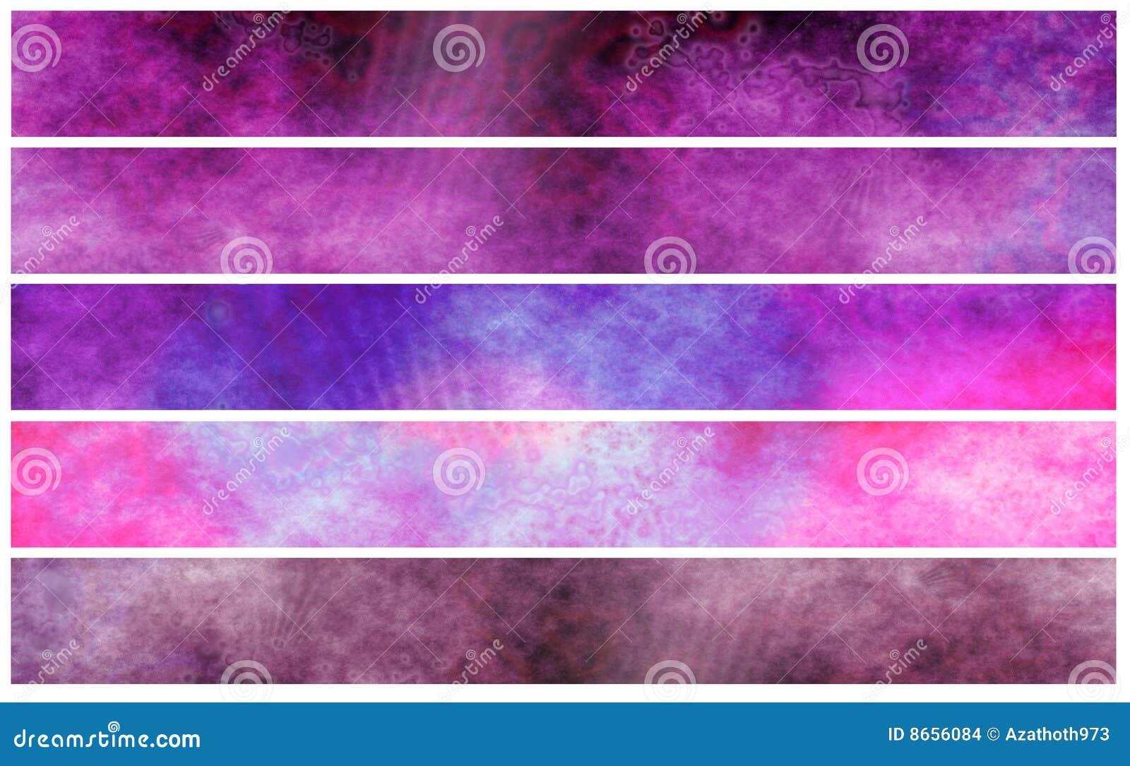 Drapeaux violets fuchsia grunges ou en-têtes