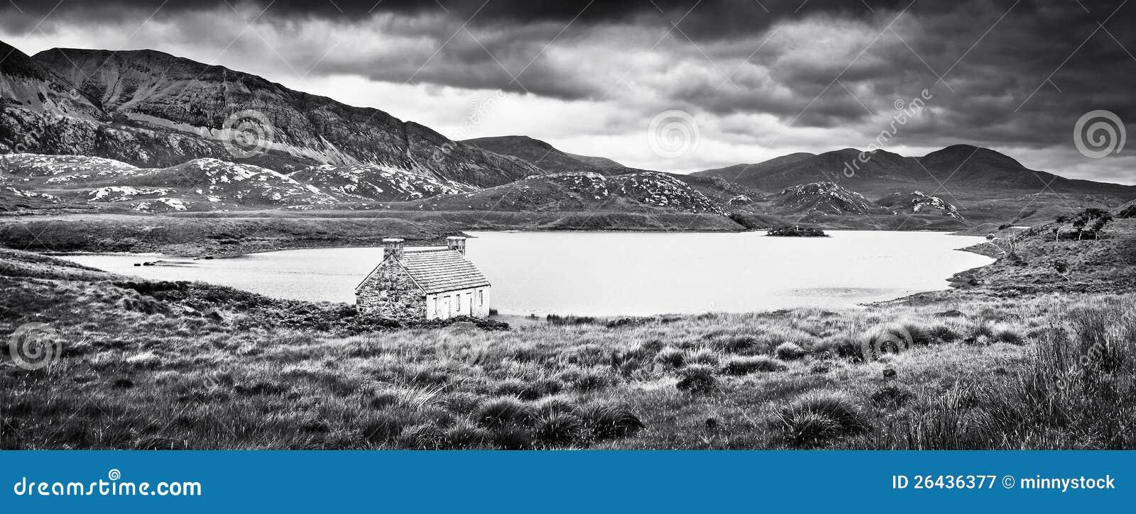 Drastische Landschaft auf Insel von verrühren, Schottland