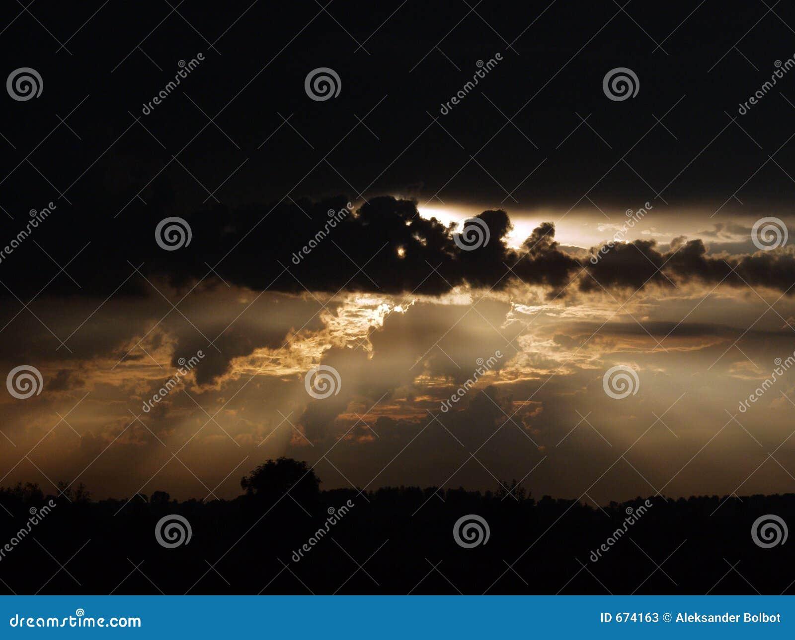 Drastischer Himmel