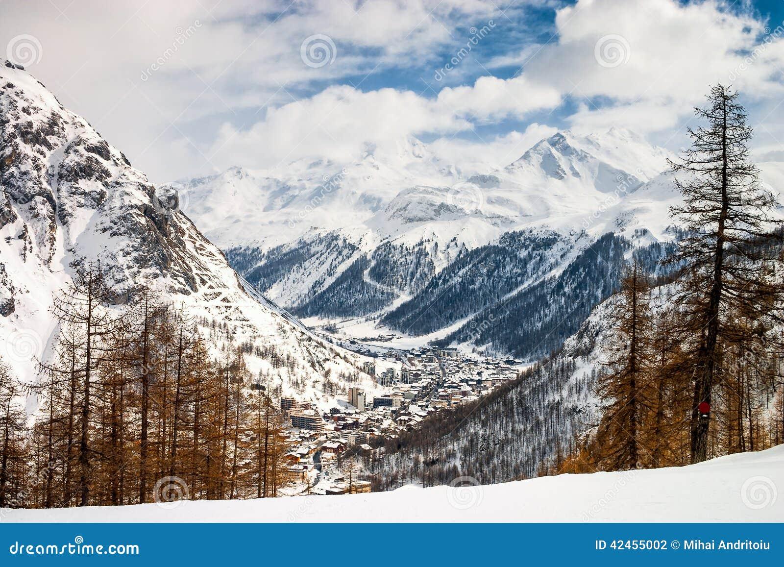 Draufsicht über Val D Isere