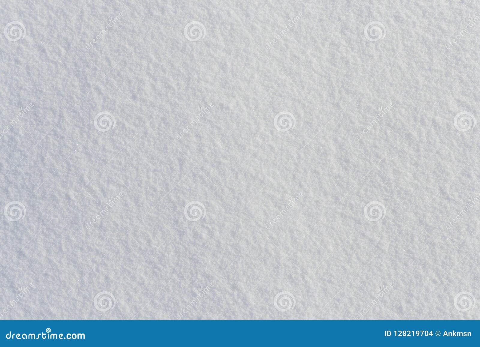 Draufsicht der weißen neuen eisigen Schneebeschaffenheit