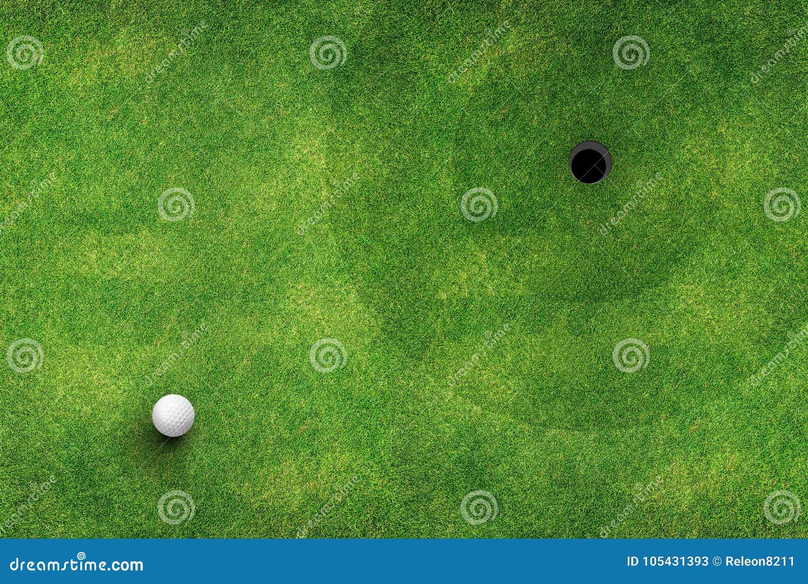 Draufsicht des Golfplatzes