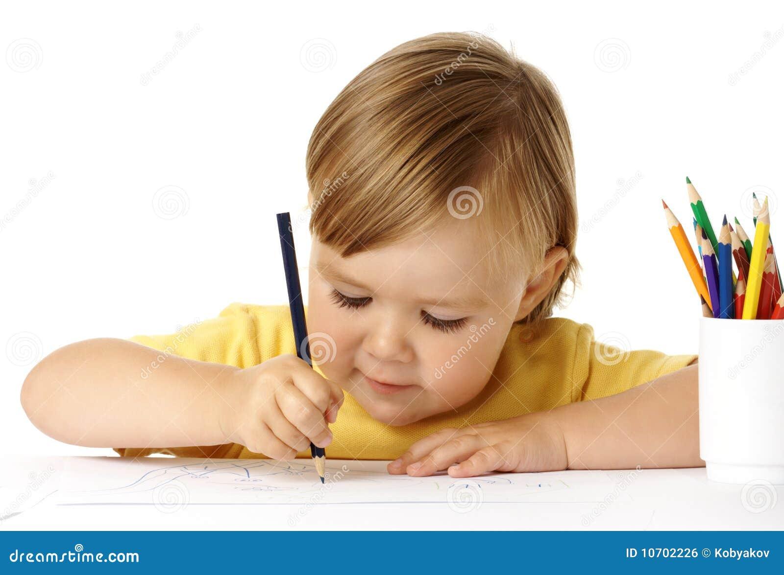 Draw för barnfärgcrayons